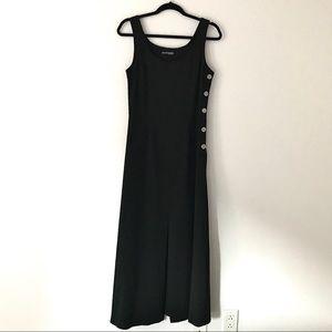 Sleeveless Black Maxi/Long  Dress Front Slit - M
